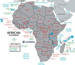 africa continent map africa contenent map