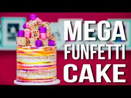 how to make a mega funfetti cake confetti vanilla cake with
