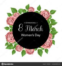 flowers international 8 march design card with roses flowers international women s day