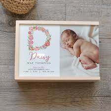 wooden baby keepsake box personalised photo baby keepsake memory box spatz mini peeps
