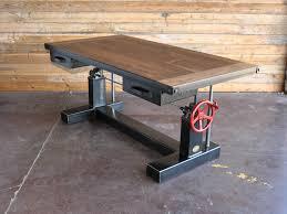 Industrial Computer Desks Crank Desk Vintage Industrial Furniture