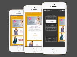 flat ios shopping app psd template free download