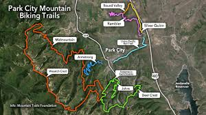 Park City Utah Map Mountain Biking Trails In Park City Ksl Com