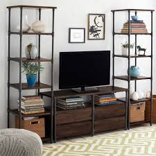 Console Bookshelves by Pipe Bookcase Narrow West Elm