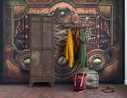 steampunk wall murals wall murals you ll love steampunk design elements vinyl wall mural pixers we live to