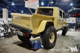 jeep brute 2016 sema bruiser conversion tan jeep jk double cab pick up truck