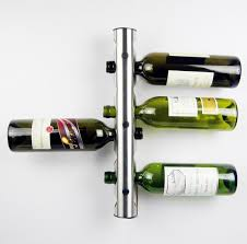 discount partical stainless steel bar wine rack wine shelf wall