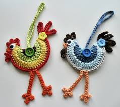 loved these funky crochet roosters when i saw them and had to make