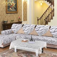 sofa cover romorus 1 pc europe striped quilted sofa cover armrest slipcover