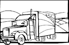 tractor trailer coloring pages semitrailer semi truck coloring page netart
