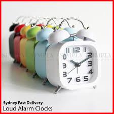 Desk Alarm Clock Twin Bell Alarm Clock Vintage Retro Loud Clocks Battery Bedside Desk A