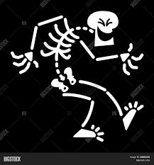 Halloween Skeleton Cartoon Halloween Skeleton Laughing Mischievously Stock Vector U0026 Stock