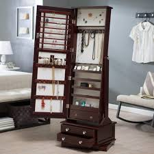 mirror jewelry armoires mirror jewelry armoires hanging standing armoire bed throughout