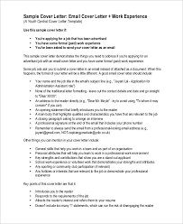 awesome collection of email cover letter sample on sheets