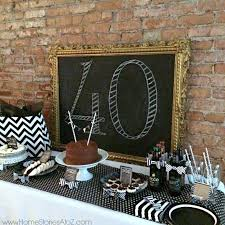 Birthday Decoration Ideas At Home For Husband 40th Birthday Party Idea For A Man Dessert Buffet Buffet And