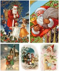 classic christmas illustrations free stock vector art