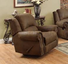 dining room chair brown leather recliner chair oversized
