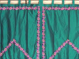 green trellis fine embroidered curtains 2 elegant indian window