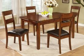 oak finish country style dining table by poundex f2192