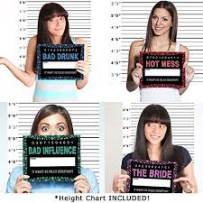 mugshot backdrop bachelorette party mugshots prop signs includes height backdrop