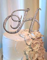 h cake topper letter h wedding cake topper in silver my wedding