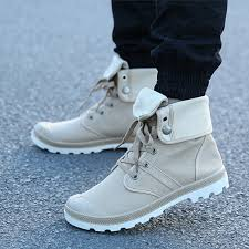 Comfortable Boots For Men High Top Military Ankle Boots Comfortable Canvas Men Shoes Woopshop