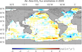 Map Of Oceans Surface Co2 Flux Maps