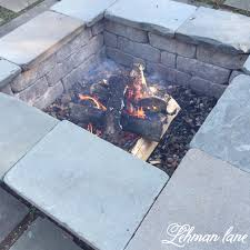 Firepit Patio Patio Diy Pit Wood Beam Benches Lehman
