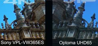 sony home theater projectors optoma uhd65 home theater projector comparison sony vpl vw365es