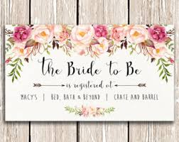 bridal shower registry bridal registry etsy