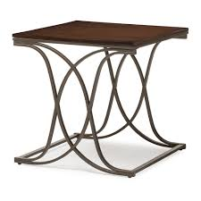 Metal And Wood Furniture Baxton Studio Terrance Walnut Wood And Antique Dark Bronze
