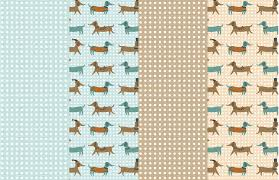 dachshund wrapping paper jingle paws d2design illustration