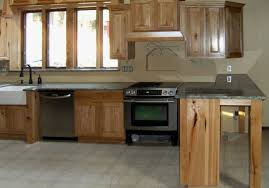 Stained Hickory Cabinets Cabin Remodeling Hickory Kitchen Cabinets Lowes Cabin Remodeling