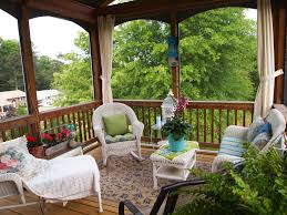 How To Decorate A Small House On A Budget by Screened Porch Decorating A Cultivated Nest
