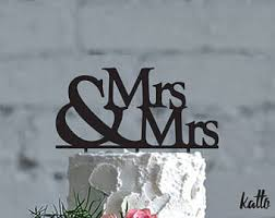 mrs and mrs cake topper cake topper etsy