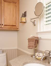 Craftsman Style Bathroom Fixtures Meyda Tiffany 20 Inch Diamond Mission Three Light Bath Fixture