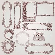 124 759 baroque ornament cliparts stock vector and royalty free
