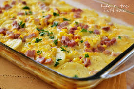 corn recipes for thanksgiving scalloped potatoes ham and corn bake