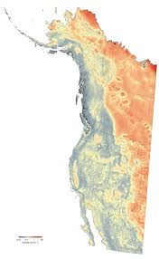 Climate Map Of North America by Velocitywna Velocity Of Climate Change Grids For Western North
