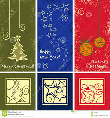 grunge vector christmas ornaments royalty free stock photography