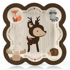 woodland creatures baby shower decorations woodland creatures party tableware plates cups napkins