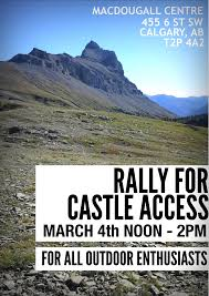 rally in calgary to keep castle park open