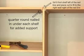 In Wall Shelves by Easy Diy Wall To Wall Closet