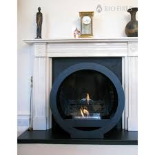 black globe flame bio ethanol fireplace