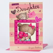 hugs birthday card daughter photo insert only 1 49