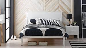 Domayne Bedroom Furniture Lola Bed Frame White Domayne