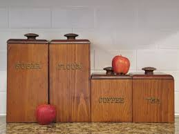 Retro Kitchen Canisters Set Wooden Kitchen Canisters 28 Images Items Similar To Hellerware