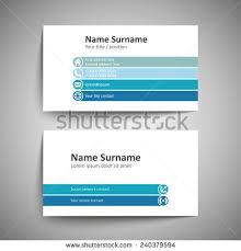 vector modern simple light business card stock vector 418084285