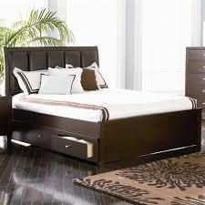 loretta queen 4pc contemporary platform storage bedroom lorretta transitional cappuccino wood queen bed w storage coaster