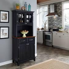 Kitchen Servers Furniture Kitchen Buffet Cabinet Kings Brand White Walnut Finish Wood